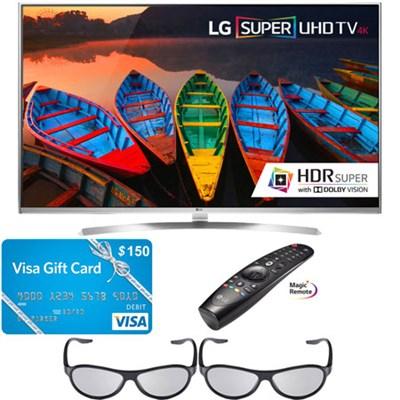 65` 4K UHD HDR 240Hz 3D LED TV + Magic Remote BONUS $150 Visa Card - 65UH8500