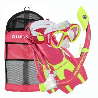 Youth Buzz Junior Snorkeling Set in Neon Pink - 261243