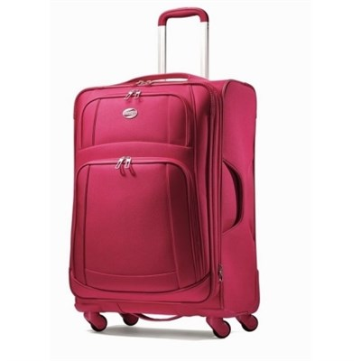 21` Carry On DeLite 2.0 Ultra-Lightweight Luggage Spinner (Cherry Red)