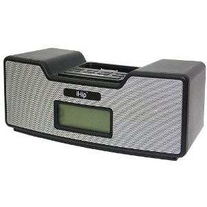 Dual Alarm Clock Radio & Speaker System for iPod (Black)