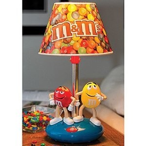 M&M's Table Lamp: Classic Illuminating Candy Characters Home Lighting