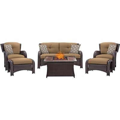 Strathmere 6-Piece Lounge Set in Country Cork - STRATH6PCFP-TAN-WG