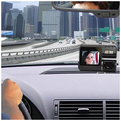 720p Car DVR Camera with Ultra-Wide-Angle Swing Lens & Night Vision