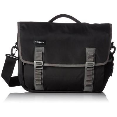 Command Laptop Messenger Bag, Medium (Black/Gunmetal)