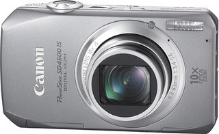 PowerShot SD4500 IS Digital Camera (Silver) w/ 1080p HD Video Refurbished