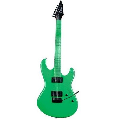 Custom Zone Electric Guitar Nuclear Green