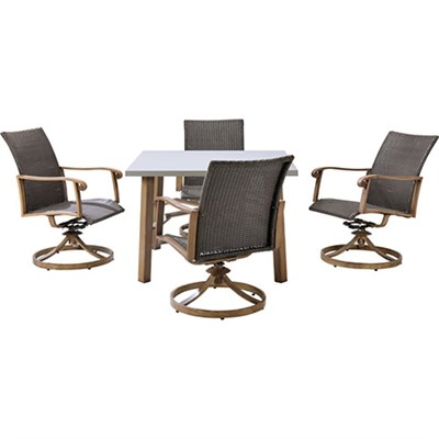 Hermosa 5-Piece Dining Set - HERDN5PC-SQR