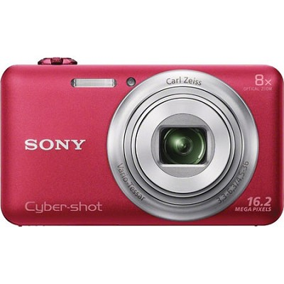 DSC-WX80 16 MP 2.7-Inch LCD Digital Camera - Red