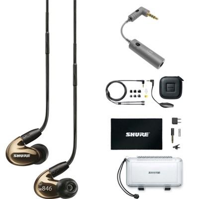 Sound Isolating Earphones Quad HD MicroDriver & True Subwoofer Bronze w/ iEMATCH