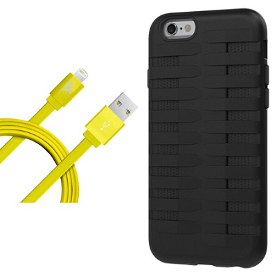 Cobra Apple iPhone 6 Silicone Dual Protective Case - Black Starter Bundle