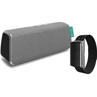 Style Portable Waterproof Speaker (Silver) w/ Bluetooth + Remote Control