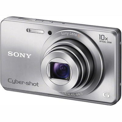DSC-W690 16MP 10X Zoom 720p Video Digital Camera (Silver)