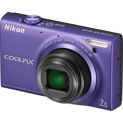 COOLPIX S6100 16MP Violet Digital Camera w/ HD Video