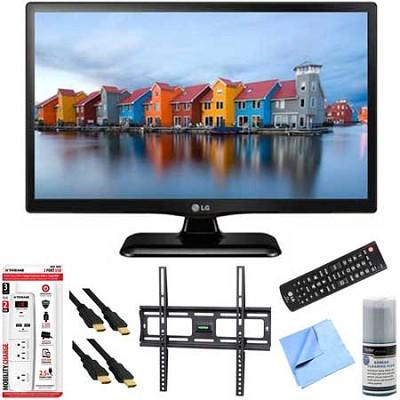 22LF4520 - 22-Inch 1080p Full HD 60Hz LED TV Plus Mount & Hook-Up Bundle