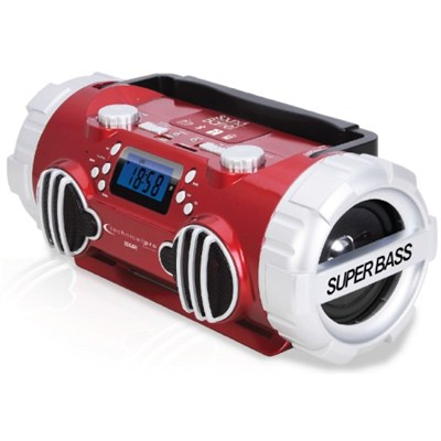 Rechargeable Portable Battery Powered Bluetooth Speaker - Red