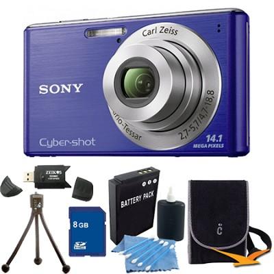 Cyber-shot DSC-W530 Blue Digital Camera 8GB Bundle