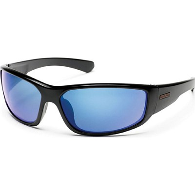 Pursuit Sunglasses Black Frame/Blue Mirror Polarized Lens
