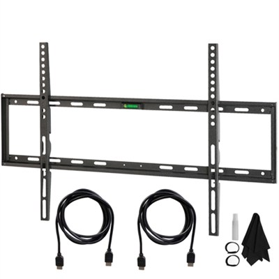 Flat & Tilt Wall Mount Kit Ultimate Bundle for 32-60 inch TVs