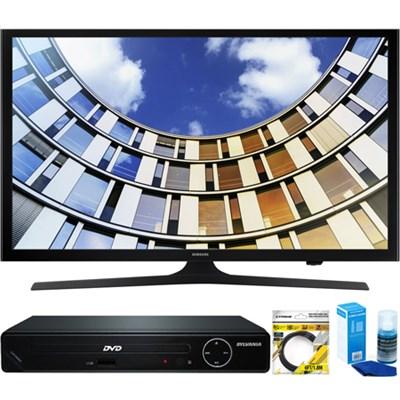 Flat 50-Inch 1080p LED SmartTV (2017 Model) + HDMI DVD Player Bundle