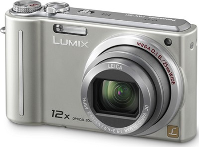 DMC-ZS1S LUMIX 10.1 MP Digital Camera with 12x Super Z(Silver) - OPEN BOX