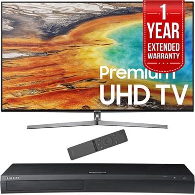 74.5` 4K Ultra HD Smart LED TV 2017 Model with Blu-Ray+Warranty Bundle