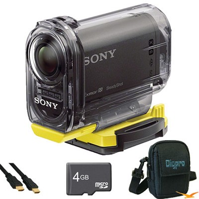HDR-AS10/B Compact POV HD Action Camera Essentials Bundle