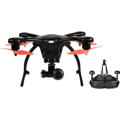 GhostDrone 2.0 VR iOS - Black/Orange  FPV Goggles / Crash Coverage Included