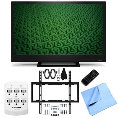 D24H-C1- 24-Inch Full HD 720p 60Hz LED HDTV Slim Flat Wall Mount Bundle