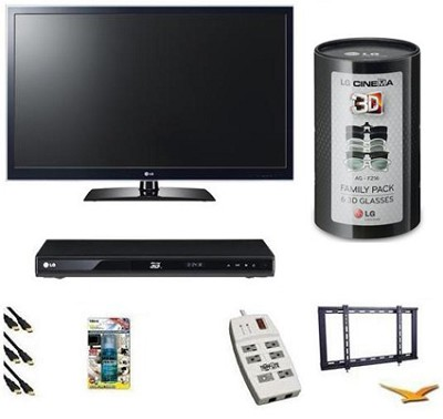 47LW5600 - 47 Inch 120Hz LED LCD TV 3D Essentials Bundle