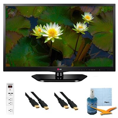 24-Inch 720p 60Hz EDGE LED HDTV Plus Hook-Up Bundle (24LB4510)