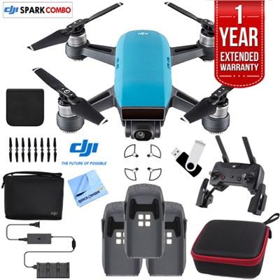 SPARK Fly More Drone Combo Sky Blue - CP.PT.000902 Triple Battery Bundle