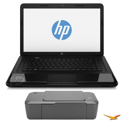 15.6` 2000-2b16NR Notebook PC and HP 1000 Printer Bundle