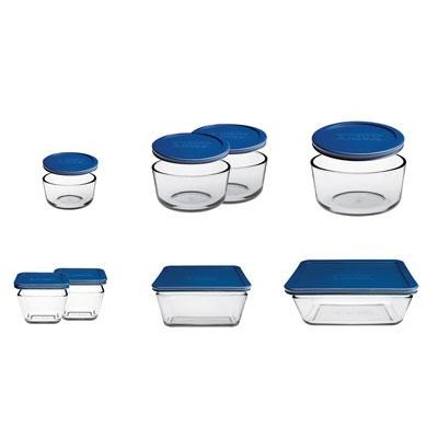 16pc Kitchen Storage Set Blue
