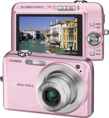 Exilim EX-Z1050 10MP Digital Camera with 2.6` LCD (Pink) - Refurbished