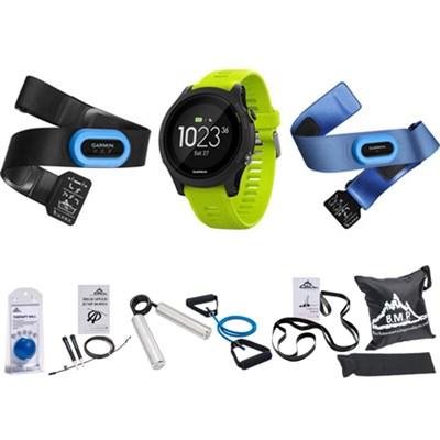 Forerunner 935 Sport Watch Tri Bundle (Black/Yellow) + 7 Pcs Fitness Kit