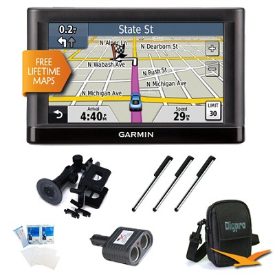 nuvi 54LM US and Canada 5.0` GPS with Lifetime Map Updates Ultimate Bundle