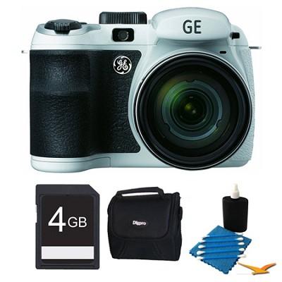 Power PRO X550-WH 16MP White Digital Camera 4GB Bundle