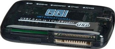 All-In-One USB 2.0 Card Reader