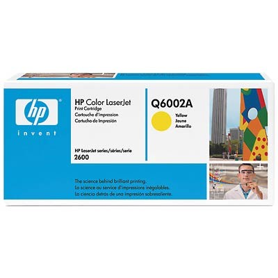 Color LaserJet Q6002A Yellow Print Cartridge w/ Smart Printing Technology
