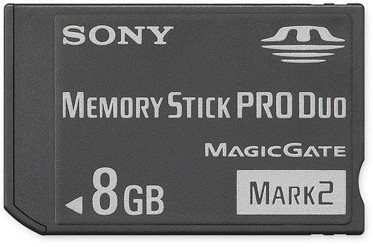 8GB Memory Stick PRO Duo  Mark 2 Media {MS-MT8G}