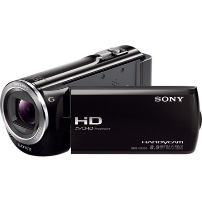 HDR-CX380/B 16GB Full HD Flash Memory Camcorder - OPEN BOX