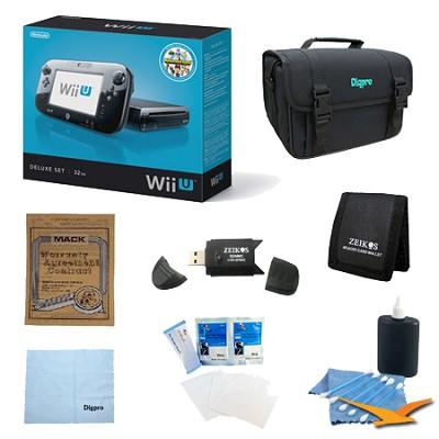 Wii U Console Black Deluxe Bundle