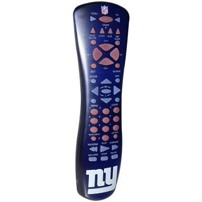 NFL Football Licensed New York Giants Universal TV Remote Control- Blue/Red