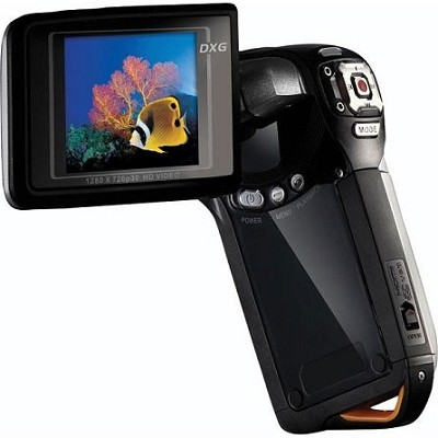 DXG-5B8V HD- 1080p HD Camcorder with Zoom-Black - OPEN BOX