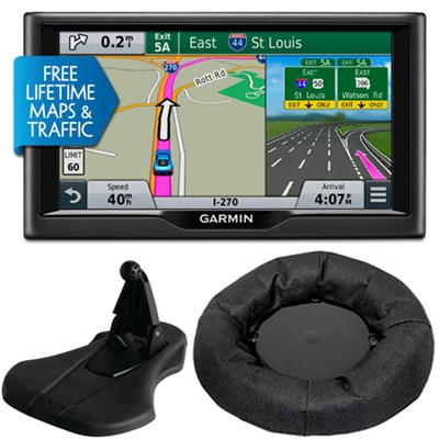 nuvi 67LMT 6` Essential Series 2015 GPS Navigation System Maps & Traffic Bundle