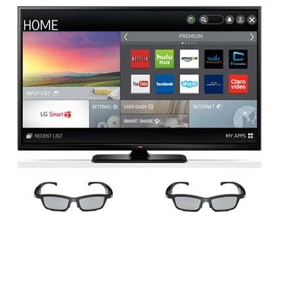 60PB6900 - 60` Plasma 1080p 600Hz Smart 3D HDTV w/ 2 pairs of Active 3D Glasses