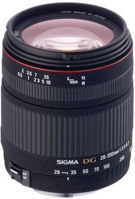 Wide Angle - Telephoto 28-300mm f/3.5-6.3 DG Macro AF Lens for Nikon