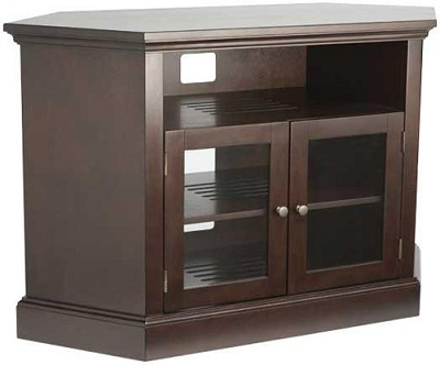 BFAV48 - Corner Unit 4 Shelf A/V Cabinet for TVs up to 52` (Chocolate Finish)