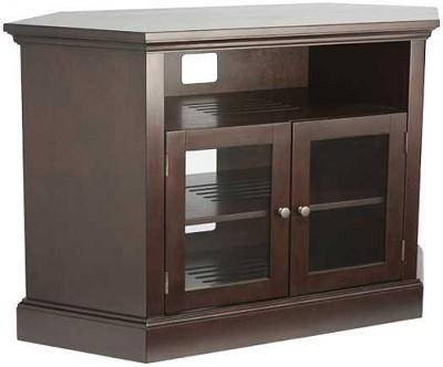 BFAV48 - Corner Unit 4 Shelf A/V Cabinet for TVs up to 52` (Chocolate Finish)