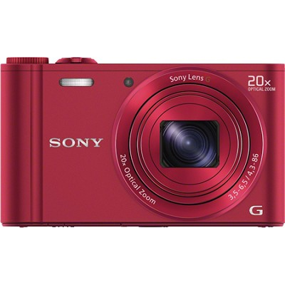 DSC-WX300/R Red 18.2MP Digital Camera with 20x Opt Zoom OPEN BOX